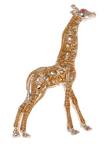 Alilang Golden Tone Yellow Animal Giraffe Spotted Texture Brooch Pin by Alilang