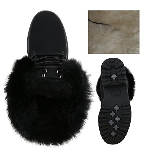 Femme or Stiefelparadies Classiques Bottines Noir UwFE6