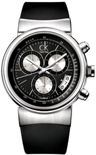 Calvin Klein Celerity K7587117 - Reloj de caballero de cuarzo, correa de goma color negro