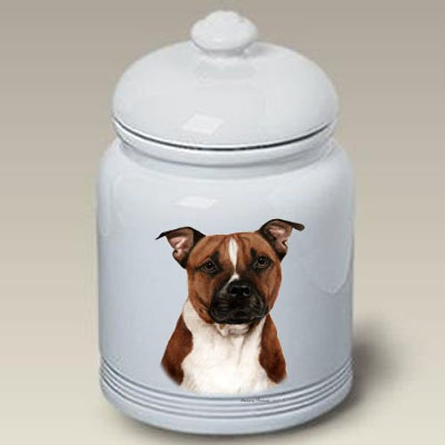 Terrier Cookie Jar - Pit Bull Terrier - Tamara Burnett Treat Jars