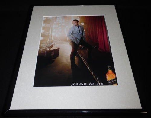 Jude Law 2015 Johnnie Walker Black Label Scotch Framed OR...