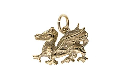 Or 9 carats avec pendentif en forme de Dragon gallois