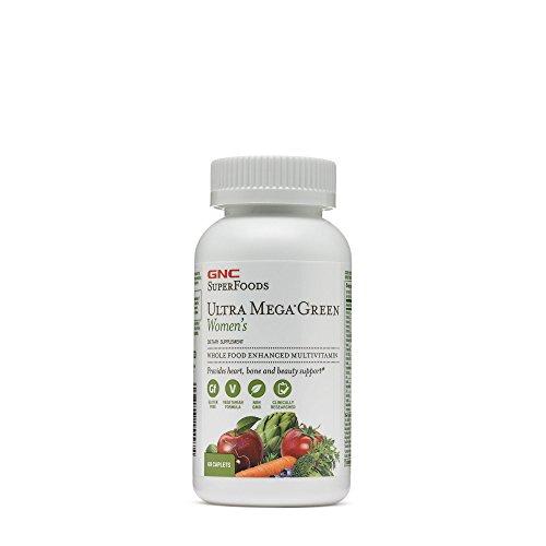 GNC Ultra Mega Green Women's Multi Vitamins, 60 Count