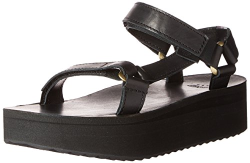 Hecho a mujeres Black de Teva las sandalia de Flatform mano la universal ZxSyRwq