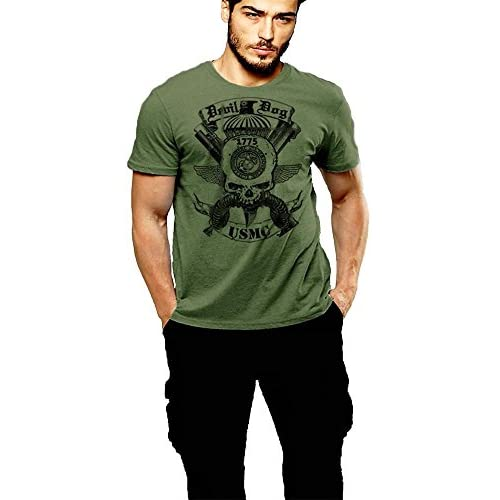 good USMC T-shirt US Marines Devil Dog Green T-shirt By Warface Apparel