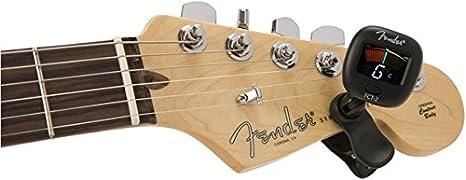 Fender FT-2 Pro - Afinador de clip con pantalla de color para guitarra acústica, guitarra eléctrica, bajo, mandolina, violín, ukelele, viola, cello, ...