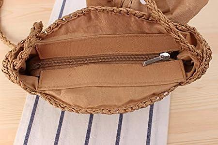 Fiery INS Woman Girl Shaped Straw Weaving Camera Travel Phone Bag Crossbody Bag