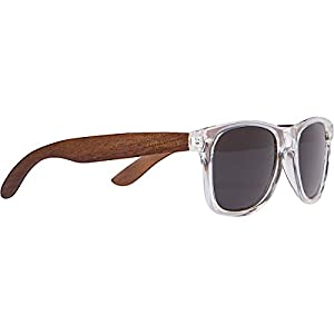 WOODIES Walnut Wood Sunglasses with Clear Frame