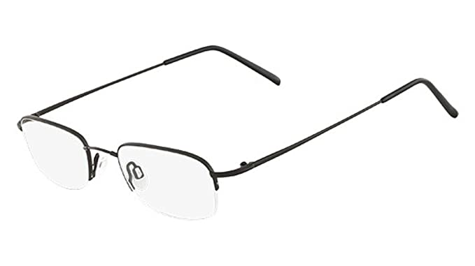7fad5eecb80a Image Unavailable. Image not available for. Color  FLEXON Eyeglasses 607  001 Black Chrome 49MM