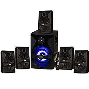 Flashandfocus.com 4111vYZtqcL._SS300_ Acoustic Audio by Goldwood Bluetooth 5.1 Surround Sound System with LED Light Display, FM Tuner, USB and SD Card Inputs…