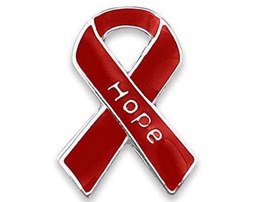 (AIDS/HIV Awareness Small Hope Ribbon Pin in a Bag (1 Pin - Retail))