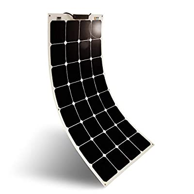 Solar Panel 100W 12V Bendable Flexible Solar Charger SunPower Solar Module with MC4 for RV, Boat, Cabin, Tent, Car, Trailer, 12v Battery or Any Other Irregular Surface