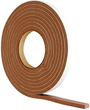 Pack of 2 x 5 Metres 10 Metres 32.1//2 foot Merriway BH04941 StormSeal Door /& Window Draught Excluder Weatherstrip Self Adhesive High Density Rubber Foam - Brown