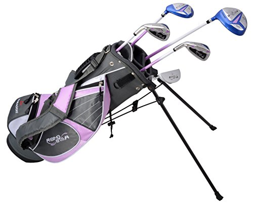 Paragon Rising Star Girls Kids Golf Clubs Set Ages 8-10 Lavender With Free Golf Gift