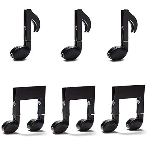 - Daycount 6 Pcs Music Clips Page Holder, Multifunctional Drying Cloth Folder Clamp Clothespin Food File Archival Sealing Clip Music Note Clips for Arts Literary Gifts
