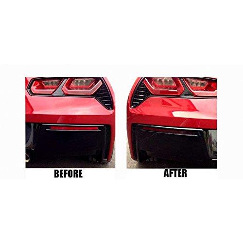 Eckler's Premier Quality Products 25-334330 - (C7) Corvette Lower Rear Bumper Reflector Blackout Vinyl Covers - 25 Trim Reflector