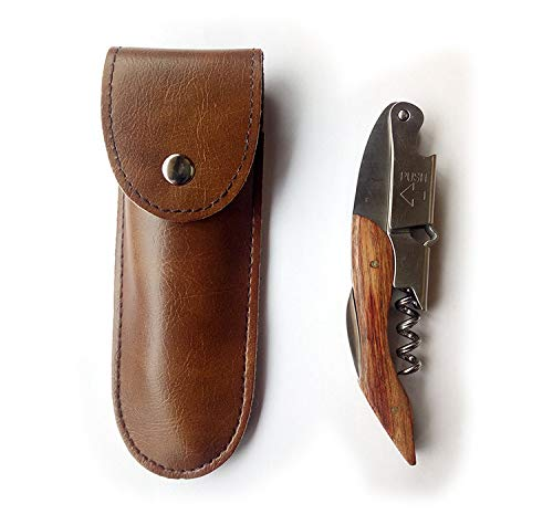 OWO Waiters Corkscrew Rosewood 3-in-1 Wine Opener, Beer Bottle Opener and Foil Cutter, Wooden Bottle Opener, The Best Choice of Professional Waiters and Bartenders Around the Global (Corkscrew Rosewood Waiters)