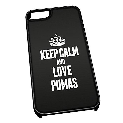 Nero cover per iPhone 5/5S 2470nero Keep Calm and Love Pumas