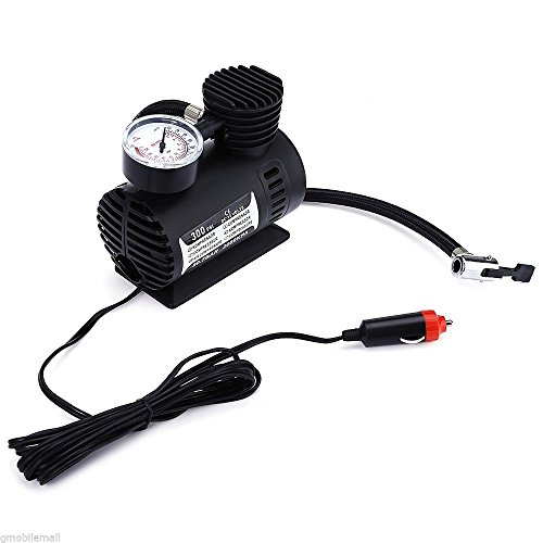 Mini 12V 300PSI Electric Car Inflatable Air Pumps Compressor For Auto 12V Car Motorcycle Bicycle Basketballs by Pettstore