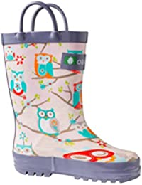 Kids Rubber Rain Boots With Easy-On Handles | Mermaids,...