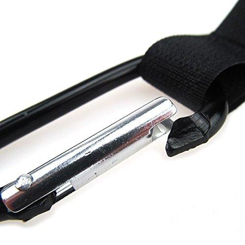 Sendgo 2Pcs Shopping Bag Stroller Hook for Wheelchair Stroller Carabiner Clip Baby Carriage Bag Hooks