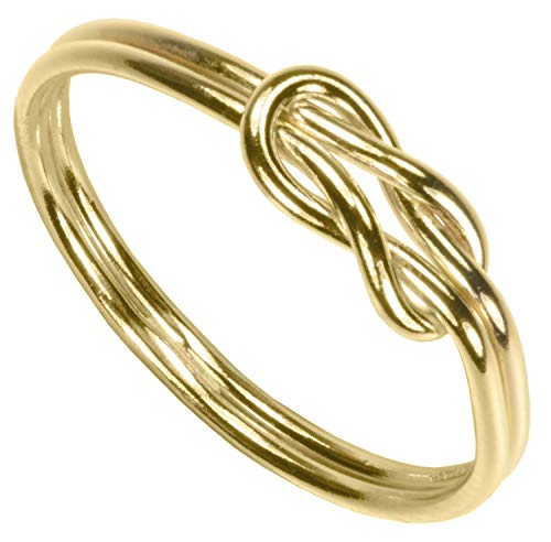 uGems 14K Gold Filled Double Long Love Knot Ring Size - Gold Ring Love Knot 14k