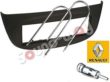 ACV Electronic Fa/çade dautoradio 1/DIN pour Renault Twingo II /à partir de 2007 Wind /à partir de septembre 2010 Noir