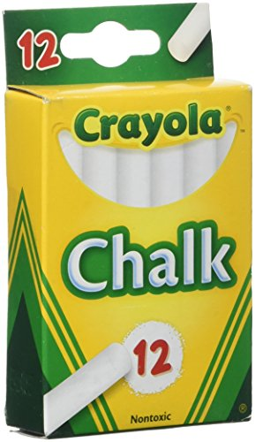 Crayola White Chalk 12 Ea