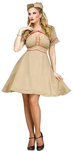 Costumes Army 1940 (Fun World Women's Army Gal Costume, Blue,)