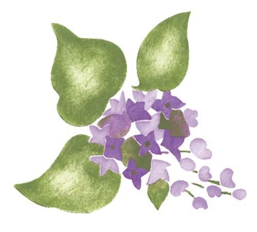 Designer Stencils Small Lilac Flower Wall Stencil SKU #2958