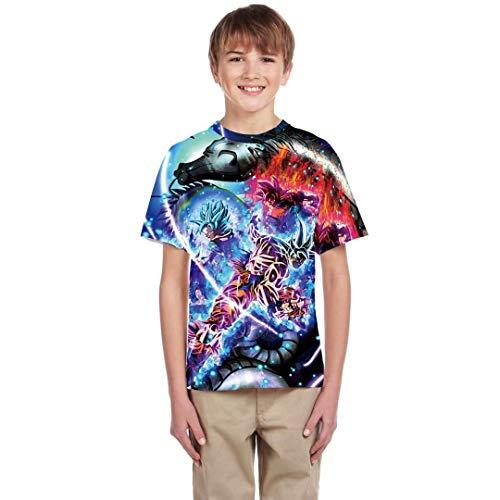 Boy Girl Summer Short Sleeve Shirts Dragon Ball Z T Shirt Costume Kids Tops Pullover Outfit ()
