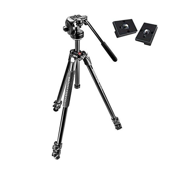 RetinaPix Manfrotto MK290XTA3-2W 290 Xtra Fluid Video Head Kit with Two Bonus ZAYKiR RC2 Quick Release