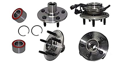 Detroit Axle - All (4) Front & Rear Wheel Bearing Hub Assembly for 2002-2010 Ford Explorer 4 Door - [2002-2010 Mercury Mountaineer]