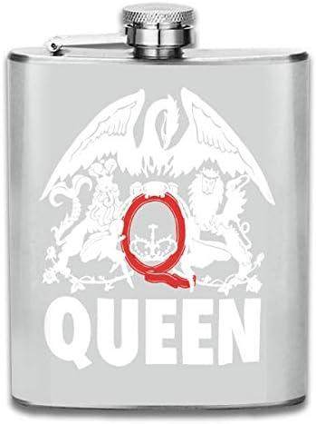 スキットル フラスコ ヒップフラスコ ワインフラスコ ウイスキーボトル 清酒ボトル クィーン ステンレス製 錆びない 7OZ 超軽便利 携帯用 高級感 おしゃれ