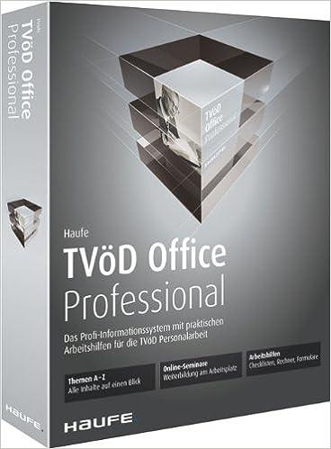 Haufe Tvöd Office Professional Für Die Verwaltung Dvd Die Komplett