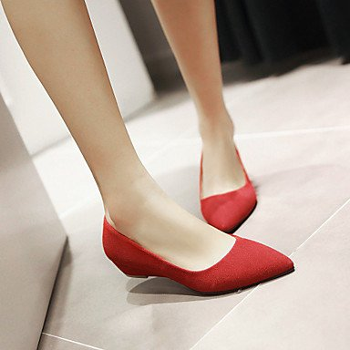 Cómodo y elegante soporte de zapatos de las mujeres primavera verano otoño al aire libre de piel sintética oficina y carrera Casual tacón bajo otros negro verde rojo beige verde