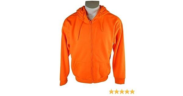 b62856de72f68 Men's Orange Blaze Full Zip Performance Hunting Hoodie Sweatshirt:  Amazon.ca: Sports & Outdoors