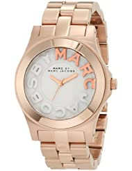 Marc by Marc Jacobs Rivera White Dial Rose Gold Ion-plated Unisex Watch MBM3135