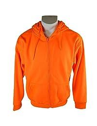 Men's Orange Blaze Full Zip Performance Hunting Hoodie Sweatshirt