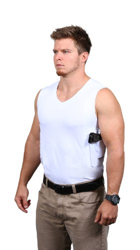 Packin' Tee Men's V-Neck Concealed Carry T-Shirt White XX-Large