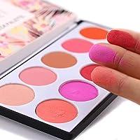 walmeck Makeup Revolution Ultra Blush and Contour Palette Makeup Blusher Sleek Palette Blush Color Lasts Long 10 Colors Natural Cheek Blushs Face Contour Make Up