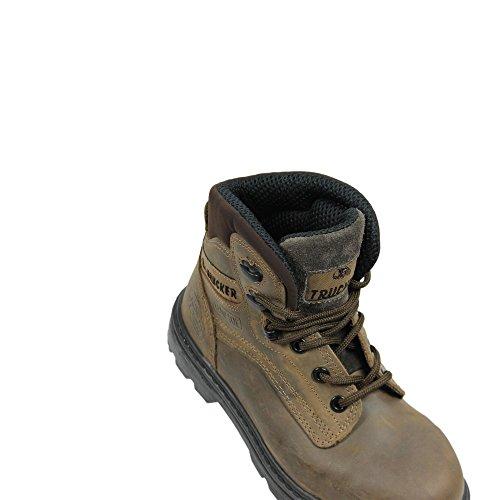 AIMONT - Calzado de protección de Piel para hombre Marrón marrón Marrón - marrón
