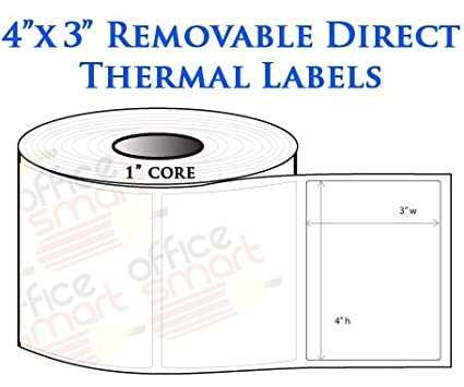 amazon com 4x3 direct thermal removable labels for zebra gc420d