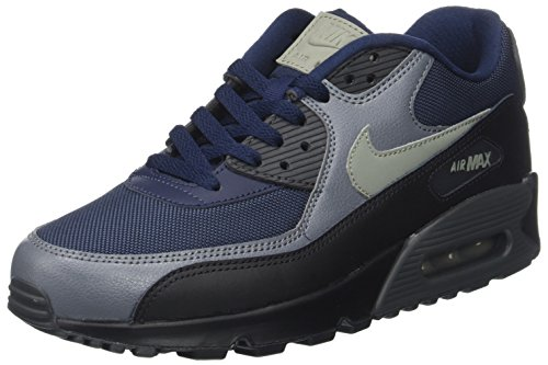 NIKE Air Max 90 Essential Lifestyle Mens Sneakers Obsidian/Dark Stucco-Black New 537384-426 - (New Nike Sneakers)