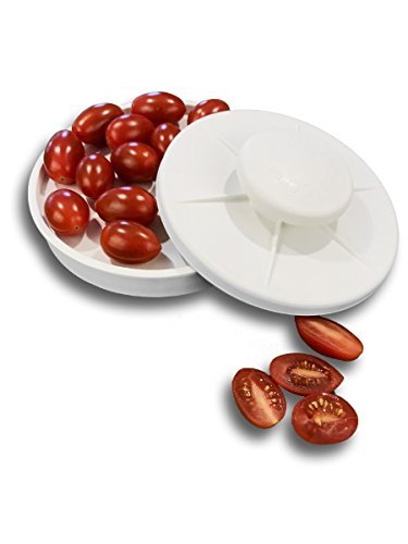 Rapid Slicer - Food Cutter - Slice Tomatoes, Grapes, Olives, Chicken, Shrimp, Strawberries, Salads, and More In Seconds. Non-Slip Gadget Holder for Slicing All Different Foods Easily