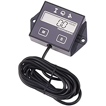 Amazon com: Searon Hour Meter Tach Tachometer for Small Engine Boat