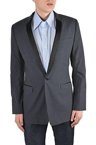 "Dolce & Gabbana ""Gold"" Men's Gray Linen Silk One Button Blazer Size US 38 IT 48"