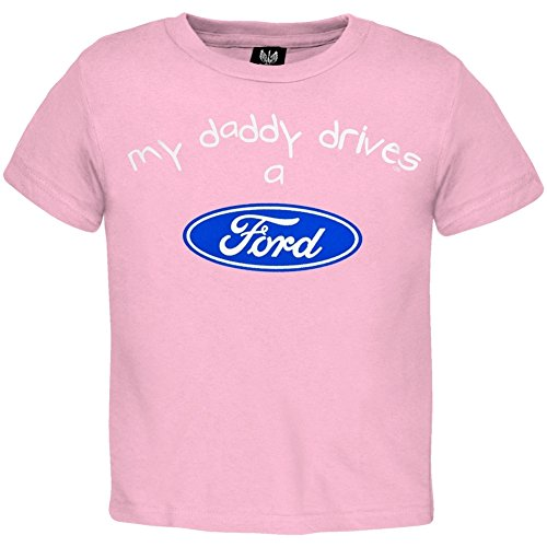 Ford - Girls My Daddy Drives Toddler T-shirt 4T Light Pink (Ford Items)