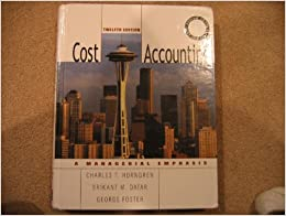 cost accounting a managerial emphasis 12th edition pdf