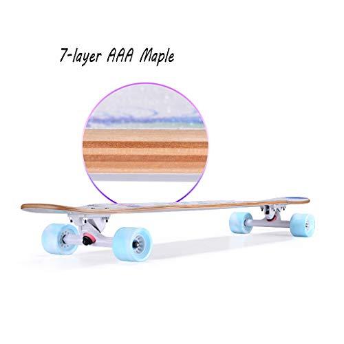HXGL-Skateboard Skateboard Long Board Professional Board Four Wheeler Dance Board Brush Street Beginner Girl Male Generation Person Teen (Color : Red) by HXGL-Skateboard (Image #4)